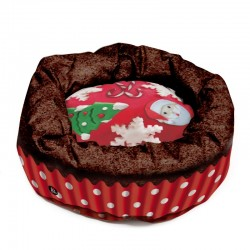 XMAS FOOD DOGBED MEDIUM