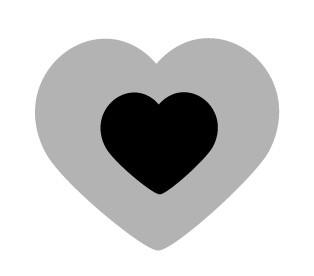 HEART BLACK 299